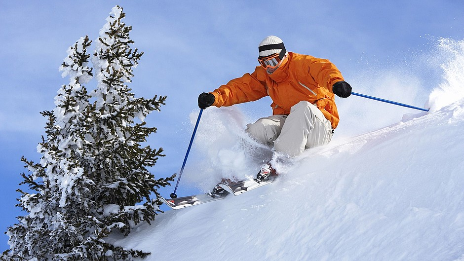 Skiing winter sports leisure time